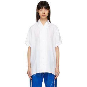 Acne Tops - Acne Studios White Rellah Bowling Shirt